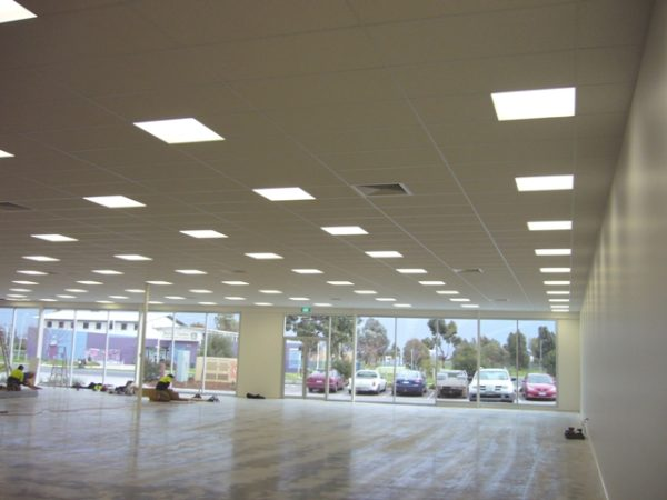 Suspended ceilings, acoustic drop in panels, fire rated walls